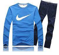 Спортивный костюм Nike, синий цвет, черные штаны, ф3382
