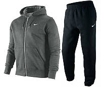 Спортивный костюм найк, темно-серый верх, черный низ, ф3400
