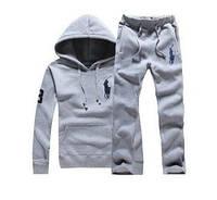Спортивный костюм ralph lauren, серый, ф3429