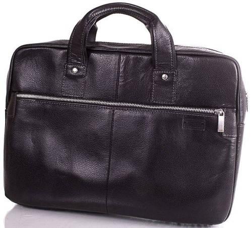 Кожаная модная мужская сумка с отделением для ноутбука ETERNO (ЭТЭРНО) ERM704B Черный