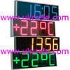 Светодиодные часы - термометр уличные, светодиодные фасадные  часы, часы электронные настенные (900*300мм)