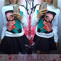 Женский свитшот девушка с чупа-чупсом