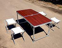 Набор мебели для пикника, стол и 4 стульчика для пикника
