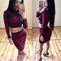 Красивый женский костюм юбка+топик