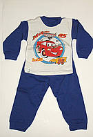 Пижама на мальчика байка синяя Тачки Украина 86 р.