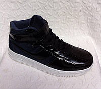 Высокие женские  кроссовки Kylie crazy черные (Реплика ААА+)