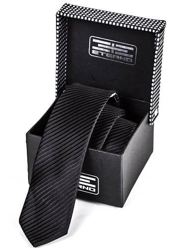 Класический мужской шелковый галстук ETERNO (ЭТЕРНО) ETEG662 черный