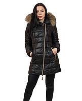 Теплая  женская зимняя  куртка  на молнии