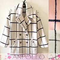 Стильное женское пальто в полоску