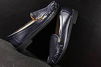 Туфли женские тёмно-синие