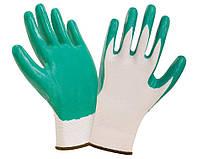 Перчатки Werk WE2124 (полиэстер/нитрил, зеленые)