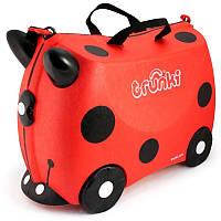Детский чемоданчик на колёсиках Trunki Harley Ladybug Божья коровка (TRU-L092)