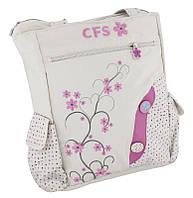 """Красивая сумка на плечо для девочки """"Sprig"""" Cool for school CF85406 белый/принт"""