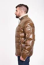 Зимний мужской пуховик с мехом и кожей CW13MD88, фото 3