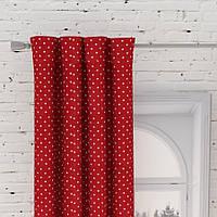 Декоративная ткань Севилья горох  (красный)