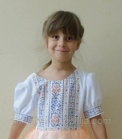 Заготовка дитячої блузки для вишивки бісером або хрестиком на тканині  ГАБАРДИН 64aa63c3677e4