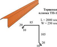 Торцевая планка 2м (красная, зелёная, коричневая)