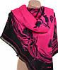 Шикарный женский кашемировый палантин размером 70*180 см Подиум 31990-3-2 (розовый, черный)