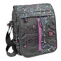 """Мессенджер с вышивкой через плечо для девушек """"Originals"""" Cool for school CF85184 графит"""