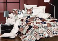 Комплект постельного белья из сатина семейный абстракция