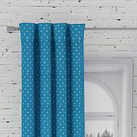 Декоративная ткань Севилья горох  (небесно-голубой)