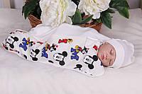 Пеленка-кокон для новорожденных на молнии с Микки Маусом, 0-4 месяца, молоко