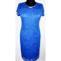 Элегантное праздничное нарядное женское платье больших размеров гипюр р.48,50,52,54,56,58