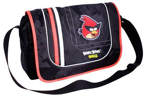 """Чудесная сумка для школы горозонтального типа мальчикам """"Angry Birds"""" Cool for school AB03850 черный/принт"""