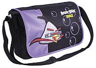 """Универсальная сумка в школу для подростка девушки """"Angry Birds"""" Cool for school AB03852 черный/принт"""