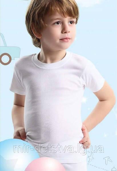 Белая футболка для мальчика TM Baykar р.2 (110-116см)