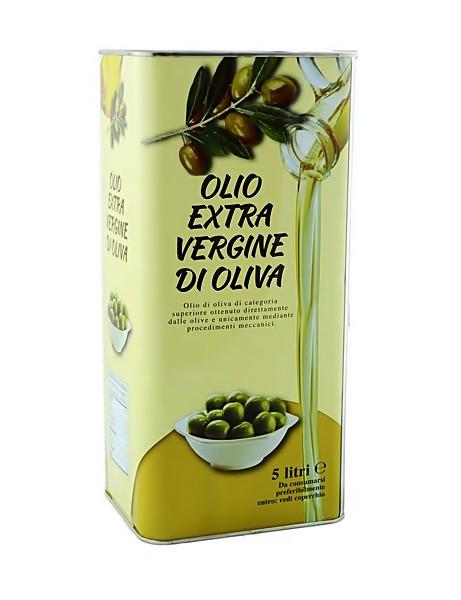 Оливкове масло першого холодного віджиму Olio Extra-Vergine di oliva 5 л