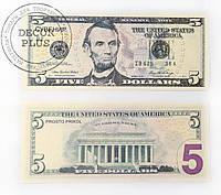 """Сувенирные деньги """"5$"""""""