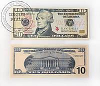"""Сувенирные деньги """"10$"""""""