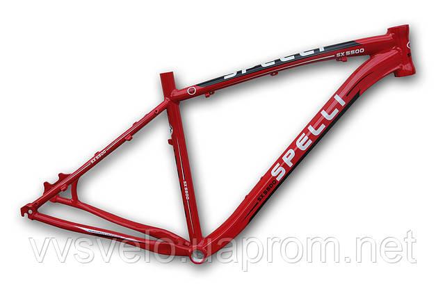 Велосипедная рама  spelli 26 SX 5500 .19 ,красная
