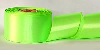 Атласная лента, ширина 1,2 см, 1 м, цвет салатовый