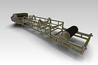 Рольганг приводной для дробеструйной обработки