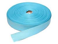 Репсовая лента, ширина 4 см, 1 м, цвет голубой