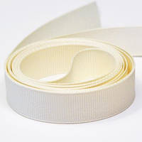 Репсовая лента, ширина 4 см, 1 м, цвет кремовый