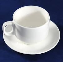 Чашка с блюдцем Altezoro, набор керамический белый