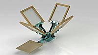 Оборудование для шелкографии — трафаретный станок 1х4