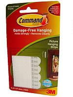 Легкоудаляемые сцепляемые клейкие застежки для рамок, картин, пенокартона Command 3M 17202, малые (м