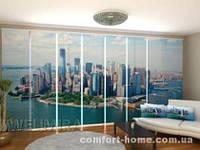 Панельная штора Нью-Йорк Вид из облаков комплект 8 шт