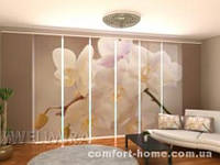 Панельная штора Элегантная орхидея комплект 8 шт
