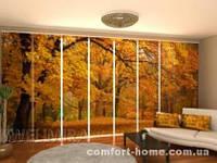Панельная штора Осень в парке комплект 8 шт