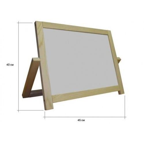 Доска для рисования двухсторонняя (45х40) РУДИ ДУ006