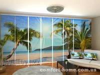 Панельная штора Солнце и Пальмы комплект 8 шт
