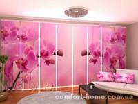 Панельная штора Розовая орхидея 2 комплект 8 шт