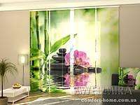 Панельная штора Орхидеи и солнце комплект 4 шт