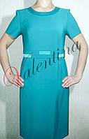 Деловое платье с атласной отделкой на подкладке, 52 размер