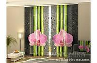 Панельная штора Орхидеи и бамбук 2 комплект 4 шт